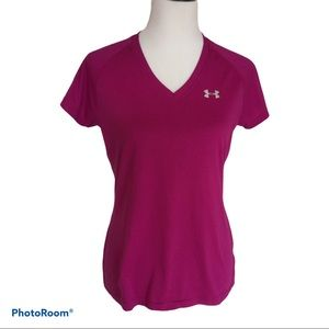 Under Armour Heat Gear Semi Fitted V-neck Top